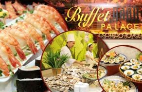 Tận Hưởng Những Giây Phút Thư Giãn Tuyệt Vời Và Thưởng Thức Các Món Ngon Nam Bộ Với Tiệc Buffet Tối Tại Khách Sạn Palace. Voucher 230.000 VNĐ, Còn 185.000 VNĐ, Giảm 20%.