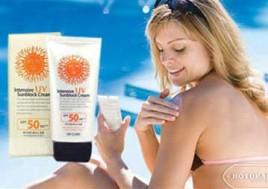 Kem Chống Nắng Hàn Quốc Intensive UV Sunblock Cream SPF50. Voucher 215.000đ Còn 129.000đ. Giảm 40% Tại