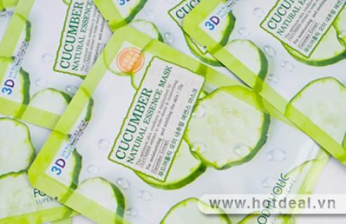 Combo 10 Mặt Nạ 3D Cucumber Tinh Chất Dưa Leo Tự Nhiên, Mang Lại Vẻ Trẻ Trung, Sáng Đẹp Cho Làn Da Của Bạn. Sản Phẩm Trị Giá 178.000Đ, Còn 89.000Đ, Giảm 50%.