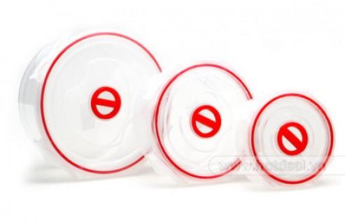 Bộ Hộp Nhựa 3 Cái – Giúp Bạn Cất Giữ Thức Ăn Trong Tủ Lạnh Hoặc Mang Đến Công Sở Tiện Dụng. Giá 100.000 VNĐ, Còn 59.000 VNĐ, Giảm 41%.