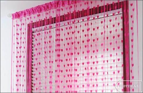 Trang Trí Thông Minh Cho Căn Phòng Thêm Ấn Tượng Với Rèm Cửa Trái Tim, Phong Cách Hàn Quốc. Sản Phẩm Trị Giá 135.000Đ Chỉ Còn 69.000Đ, Giảm 49% Tại