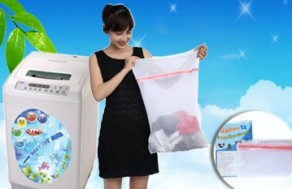 Combo 2 Túi Lưới Giặt Đồ - Chất Liệu 100% Polyester – Bảo Bệ Hữu Hiệu Cho Quần Áo Của Bạn Khi Giặt Bằng Máy. Giá 100.000 VNĐ, Còn 54.000 VNĐ, Giảm 46%.