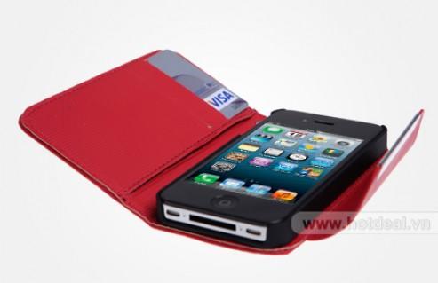 Bao Da iPhone 4/4S - Thiết Kế Đẹp, Kiểu Dáng Thời Trang – Chất Liệu Giả Da Cao Cấp - Bảo Vệ Tối Đa Cho Dế Yêu Của Bạn. Giá 150.000 VNĐ, Còn 85.000 VNĐ, Giảm 43%.
