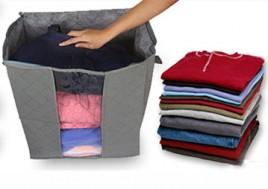 Túi Vải Đựng Đồ Đa Năng Tiện Lợi, Cho Không Gian Nhà Bạn Luôn Sạch Sẽ, Gọn Gàng Và Ngăn Nắp. Voucher 150.000 VNĐ, Còn 90.000 VNĐ, Giảm 40%.