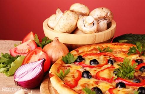 Thưởng Thức Các Hương Vị Pizza Thơm Ngon Với Giá Cực Mềm Khi Mua Pizza Tại Pizza Hoa Ý. Voucher 110,000 VNĐ, Còn 65,000 VNĐ, Giảm 41%.