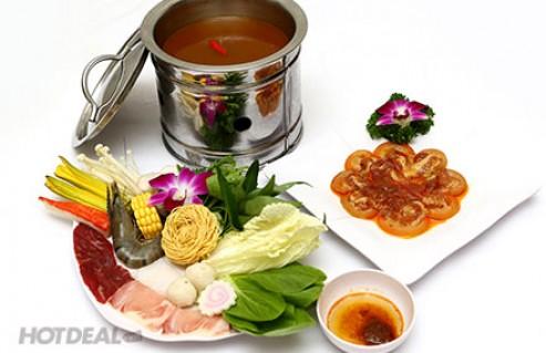 Thưởng Thức Lẩu Và Món Nướng Thơm Ngon, Đa Dạng Món Dành Cho 1 Người Tại Yu Mei Lẩu - Nướng. Voucher 115.000 VNĐ, Còn 69.000 VNĐ, Giảm 40%.