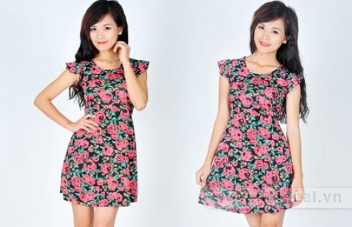Váy Đầm Xinh Hoa Văn Dạo Phố – Thiết Kế Nữ Tính, Chất Liệu Thun Cotton Mềm Mịn, Thoáng Mát – Cho Bạn Gái Sự Lựa Chọn Phong Cách. Giá 210,000 VNĐ, Còn 119,000 VNĐ, Giảm 43%.