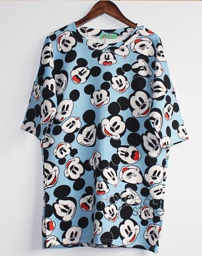 Áo Mickey Form Dài Năng Động