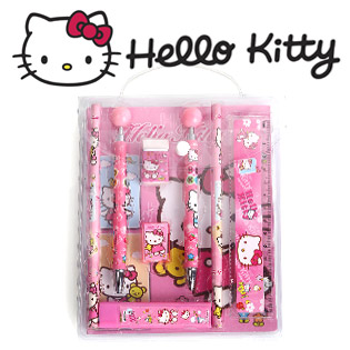 Hot Deal - Bo Do Dung Hoc Tap Hello Kitty 8 Mon Cho Be Gai