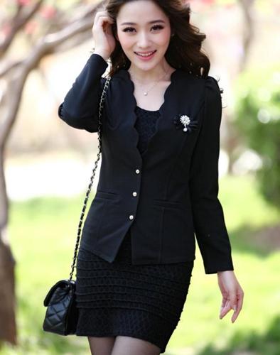 Áo Vest Nữ Hàn Quốc Cổ Lượn Sóng