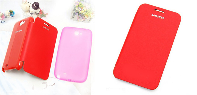 Hot Deal - Combo 2 Flip Cover Va Op Silicon Cho Samsung Galaxy SIII Mini