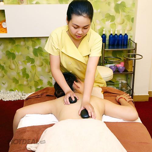 Ngâm Chân Thảo Dược + Massage Body Đá Nóng - Không Nhận Tip - Khánh Hương Spa