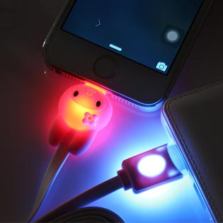 Hot Deal - Cap Sac Iphone 5 Den Led Doi Mau Doc Dao Day Chong Roi