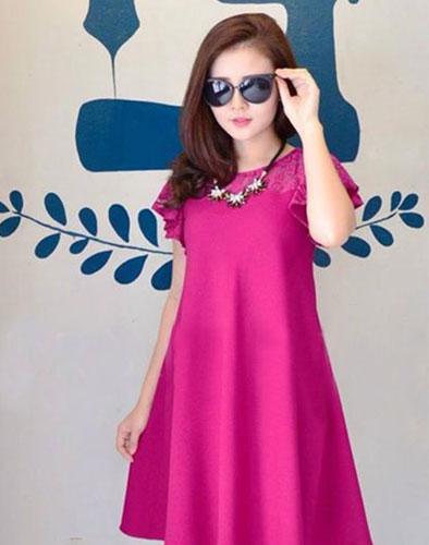 Đầm Oversize Phối Ren Linda