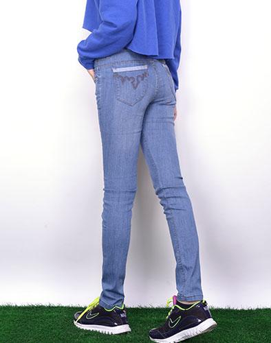 Quần Jeans Lưng Cao Màu Nhạt New