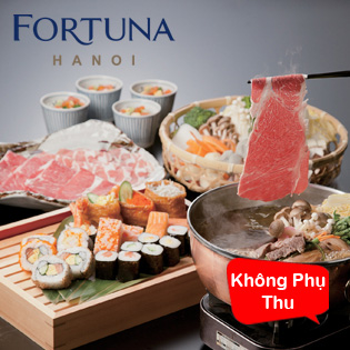 Hot Deal - An Thoa Thich Sushi & Lau Shabu Tai KS Fortuna Ha Noi