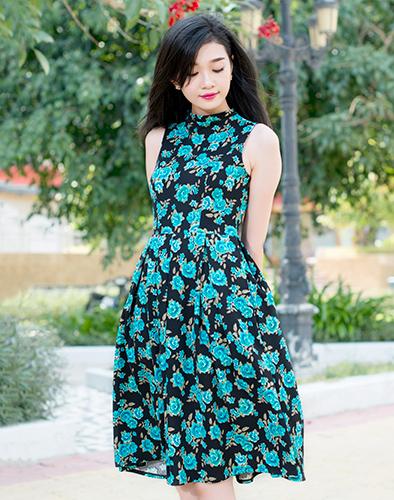 Đầm Cổ Lọ Vintage