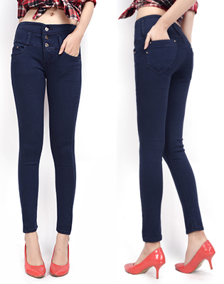 Hot Deal - Quan Jeans Nu Lung Cao Dinh Nut