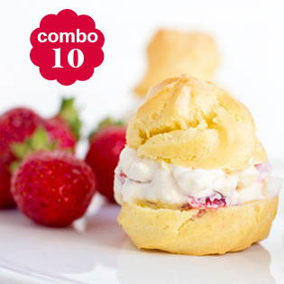 Hot Deal - Combo 10 Banh Fujisu Choux Nhan Cheese Hoac Yogurt Kieu Y
