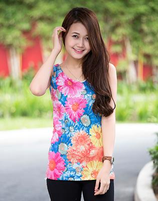 Hot Deal - Ao Thun Kim Sa Hoa Tiet Mua Thu