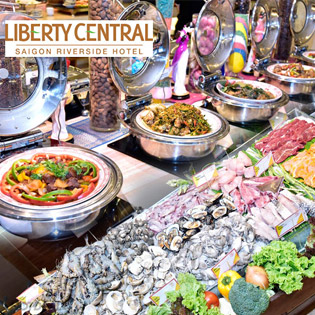 Hot Deal - Buffet Toi Thu 2-5 - KS Liberty Central Saigon Riverside 4 Sao