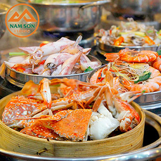 Hot Deal - Buffet Hai San Cao Cap - Nha Hang Nam Son