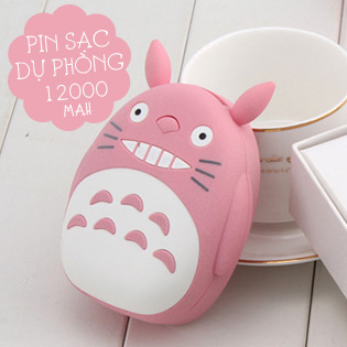 Hot Deal - Pin Sac Du Phong 12000mah Hinh Totoro Cute
