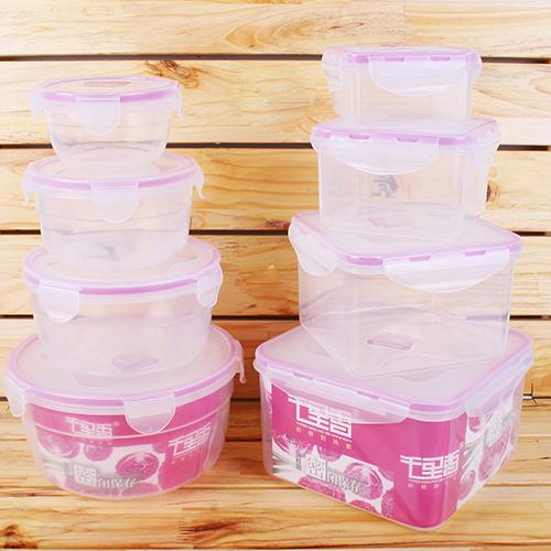 Bộ 4 Hộp Nhựa Cao Cấp Quay Được Trong Lò Vi Sóng