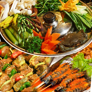 Hot Deal - Buffet Toi Hon 60 Mon Lau + Nuong Tu Chon - Nha Hang Tan Hoa Cau