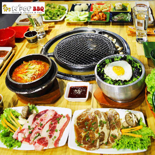 Hot Deal - Set Lau Nuong Han Quoc Cho 04 Nguoi + Free Mon An Kem,Tra Que