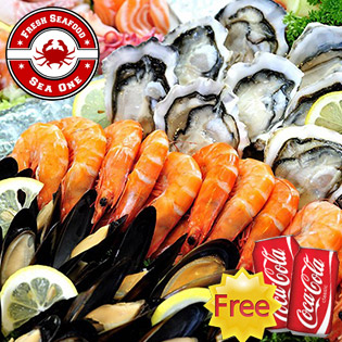 Hot Deal - Buffet Hai San Cao Cap Tai Nha Hang Sea One (Royal City) - Mien Phi Coca Tuoi