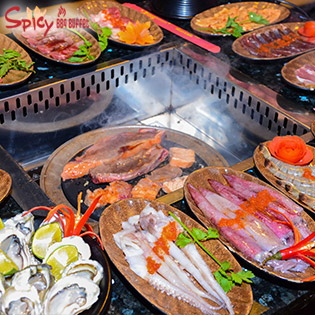 Hot Deal - Buffet Lau Nuong Nhat Ban Spicy BBQ