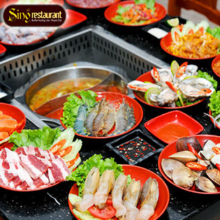 Hot Deal - Buffet Lau Nuong Singapore Tai Nha Hang Sing Vincom Long Bien