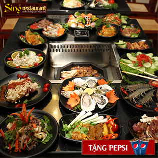 Hot Deal - Buffet Lau Nuong Singapore NH Sing Royal City - Free Pepsi Tuoi