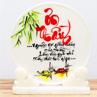Hot Deal - Dia Da Thu Phap Viet Theo Yeu Cau + De Da – Thu Phap Gia Nguyen