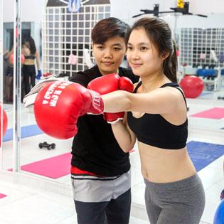 Hot Deal - 1 Thang Tap Fitness Voi Huan Luyen Vien Rieng Tai CLB Kim Kick Fitness