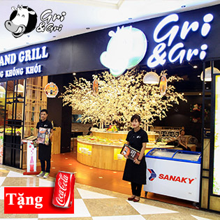 Hot Deal - Buffet Lau Nuong Khong Khoi Cao Cap Nha Hang Gri & Gri Time City