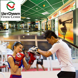 Hot Deal - 01 Thang Tap Gym, Yoga, Dance, Trx, Boxing Khong Gioi Han Tai Vietcharm Fitness Center