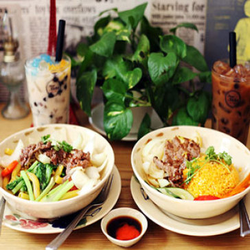 Hot Deal - Combo 02 Mon An + 02 Ly Tra Sua / Nuoc Ngot Tu Chon Tai Flavor Kitchen Bistro