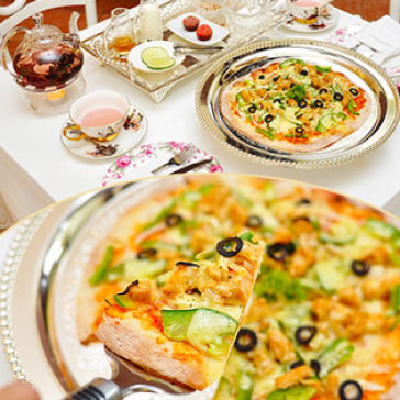Hot Deal - Set Tra Quy Toc Anh + 01 Pizza Kieu Au Thuong Hang Tu Chon 22cm - PNP Tea House & Maternity Spa