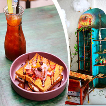 Hot Deal - 01 Tra Phuc Bon Tu/ Viet Quat + 01 Banh Crepe/ Toast - New Epoch Teashop