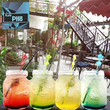 Hot Deal - Kafe Pho - Khong Gian Thien Nhien Trong Lanh Voi Mon An, Nuoc Uong Hap Dan
