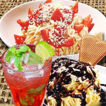 Hot Deal - Kem My Soi Spaghetti + 1 Ly Nuoc Trai Cay - Thuong Hieu Hon 30 Nam - Duy Nhat Chi Co Tai Hotdeal!