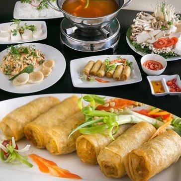 Hot Deal - Combo 2-3 Nguoi Tai Ah! Ngon Quan: Cha Gio, Goi Nam, Lau Vuong Quoc Nam