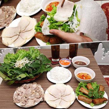 Hot Deal - 02 Thit Luoc Cuon Rau Rung + 01 Cha Gio + 02 Nuoc Ngot – NH Dac San Tay Ninh Ngoc Han