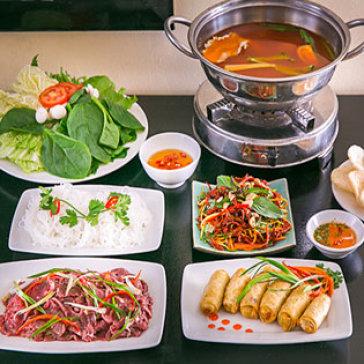 Hot Deal - Lau Bo Chua Cay + Goi Kho Bo + Cha Gio Bac Thao Nam - Ah! Ngon Quan