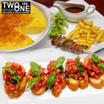 Hot Deal - 1 Trong 3 Set Au Dinner Danh Cho 1 Nguoi Tai Two In One Restaurant