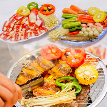 Hot Deal - Combo Nuong, Bo My, Hai San Va Ngheu Hap Cho 2 Den 4 Nguoi Tai Yoyo BBQ