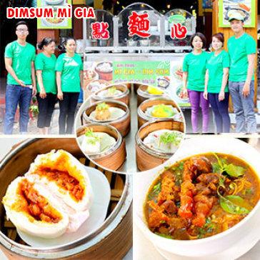 Hot Deal - Am Thuc La Ca - Dimsum Mi Gia, 1 Hu Tieu/ Mi Sa Te + 1 Phan Dimsum