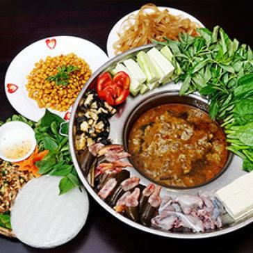 Hot Deal - Set Lau Cua Dong Dac Biet + Ngo Chien Vuon Que + Tep Rang Khe Danh Cho 4 Nguoi - Ap Dung Le